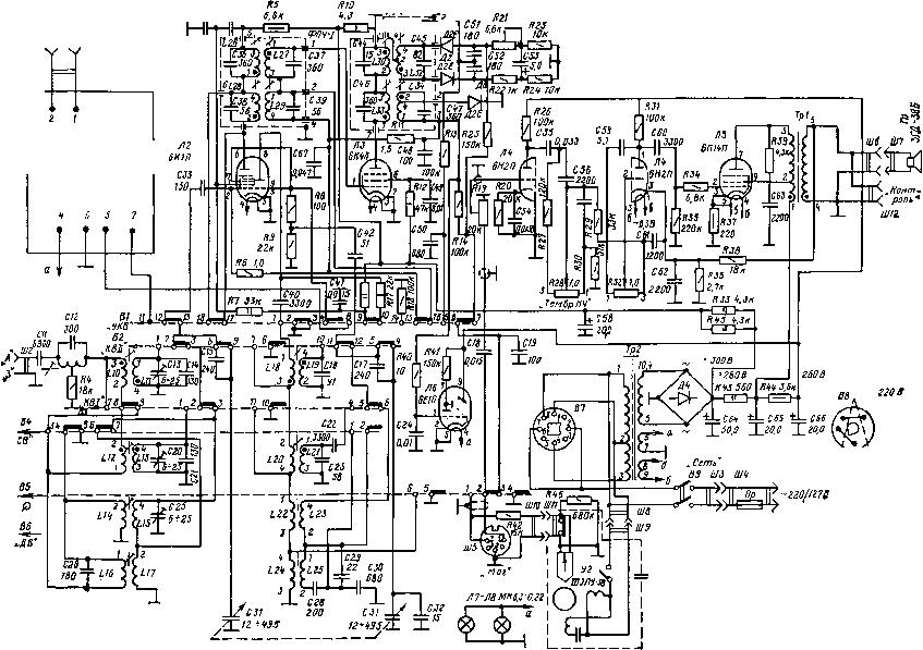 Структурные схемы станций.